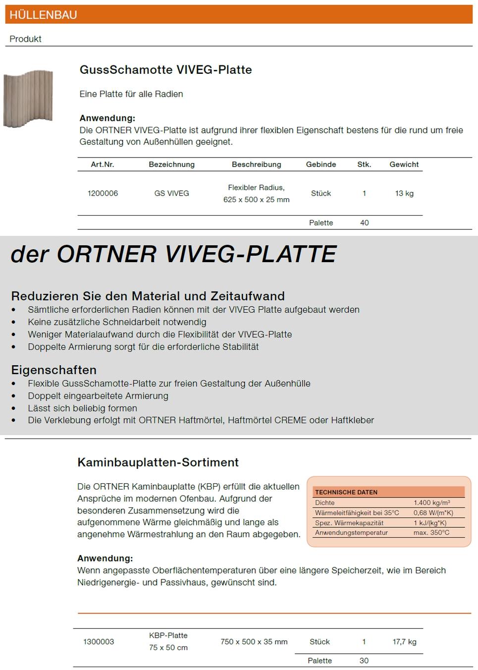 Brunner kaminbauplatten
