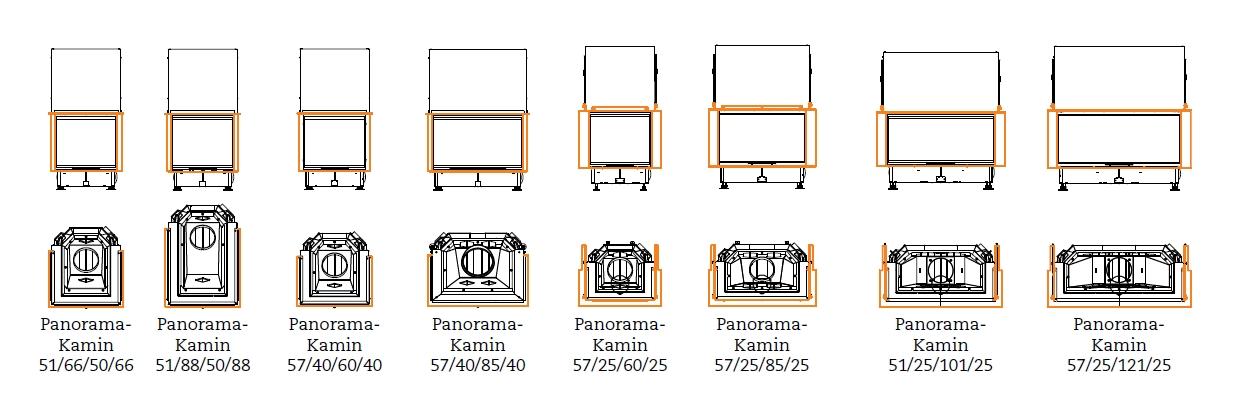 panoramakamin feuersicht von drei seiten hotline 7 21. Black Bedroom Furniture Sets. Home Design Ideas